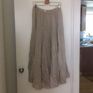 CP Shades Linen Maxi Skirt